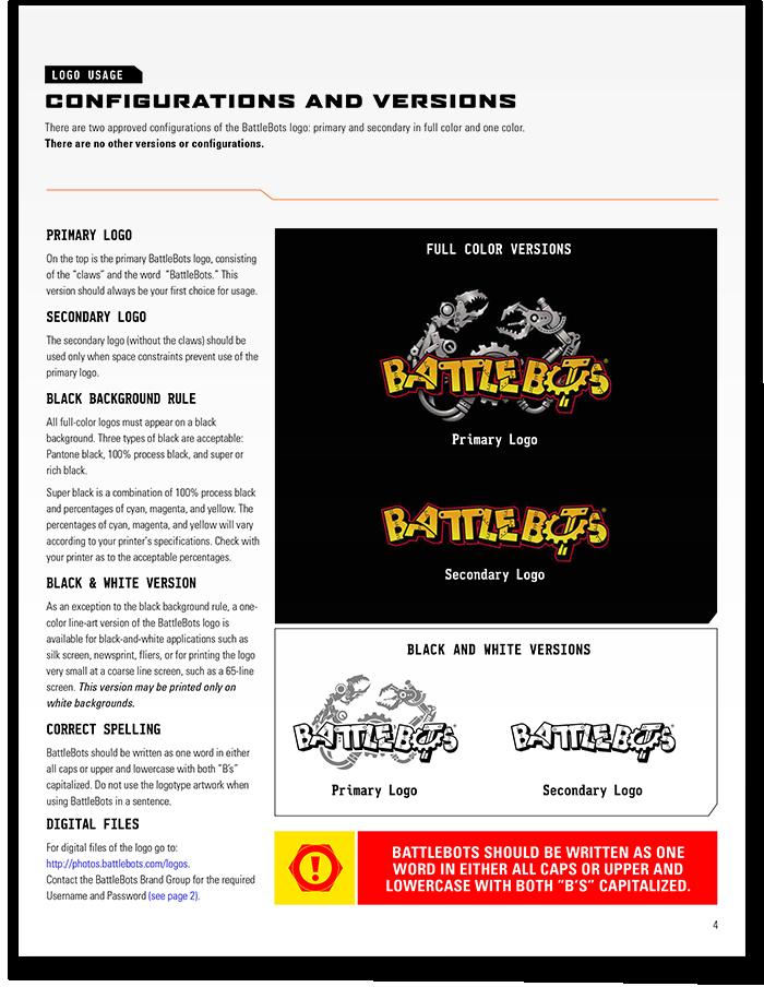 BattleBots Style Guide