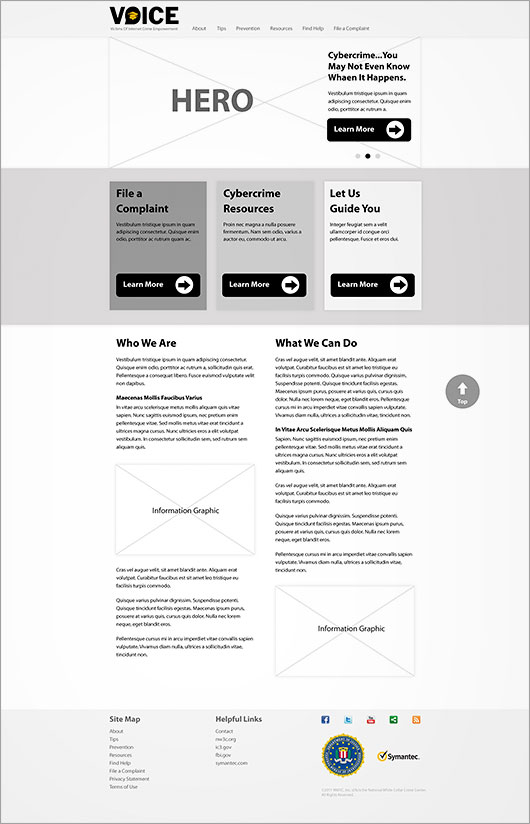 VOICE Wireframe